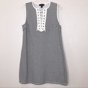Forever 21 Black and White Striped Tunic Tank Top